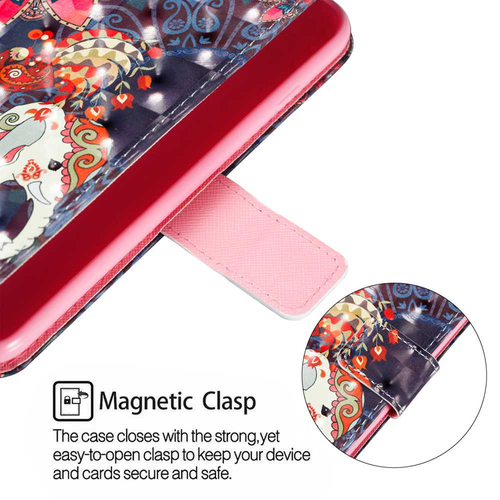 A  3D Painted Phone Case for Huawei Mate 20 LITE / Maimang 7- Multi-K