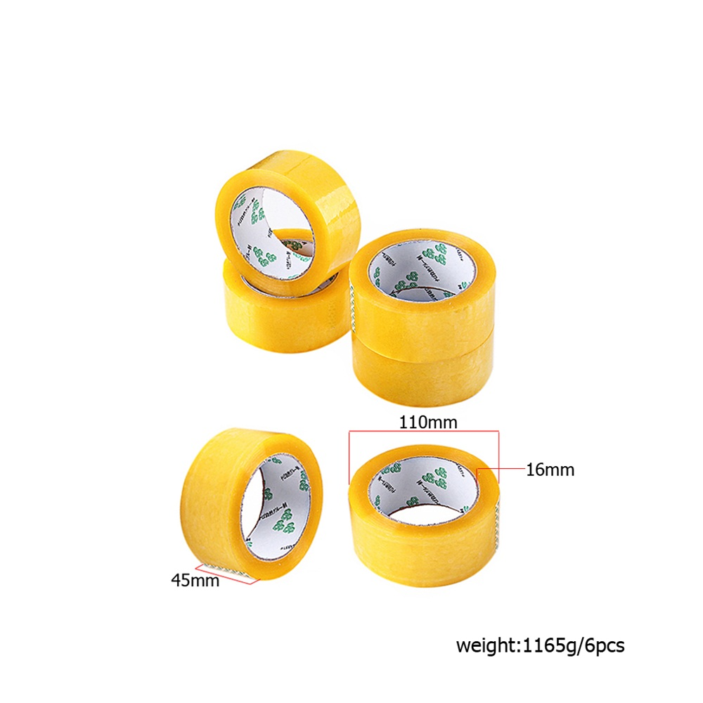 Good Transparent Tape Wide 4.5CM Strength Express Packing Adhesive 6PCS- Gold