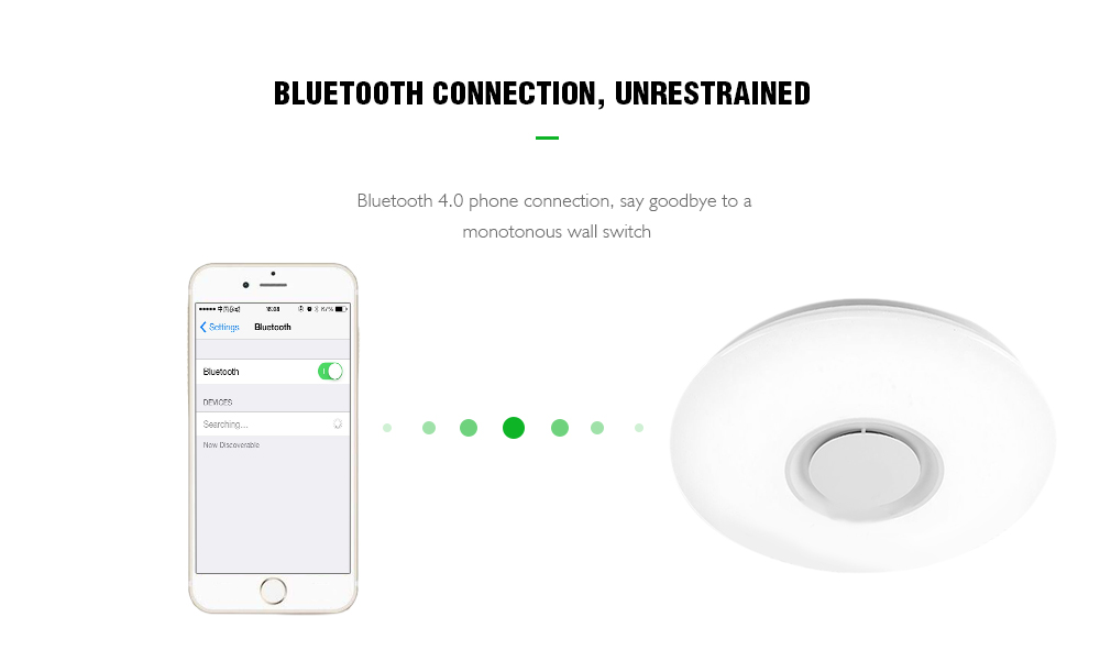 X9903Y - 24W - LY Promise Music Color Conversion Bluetooth Ceiling Light- White