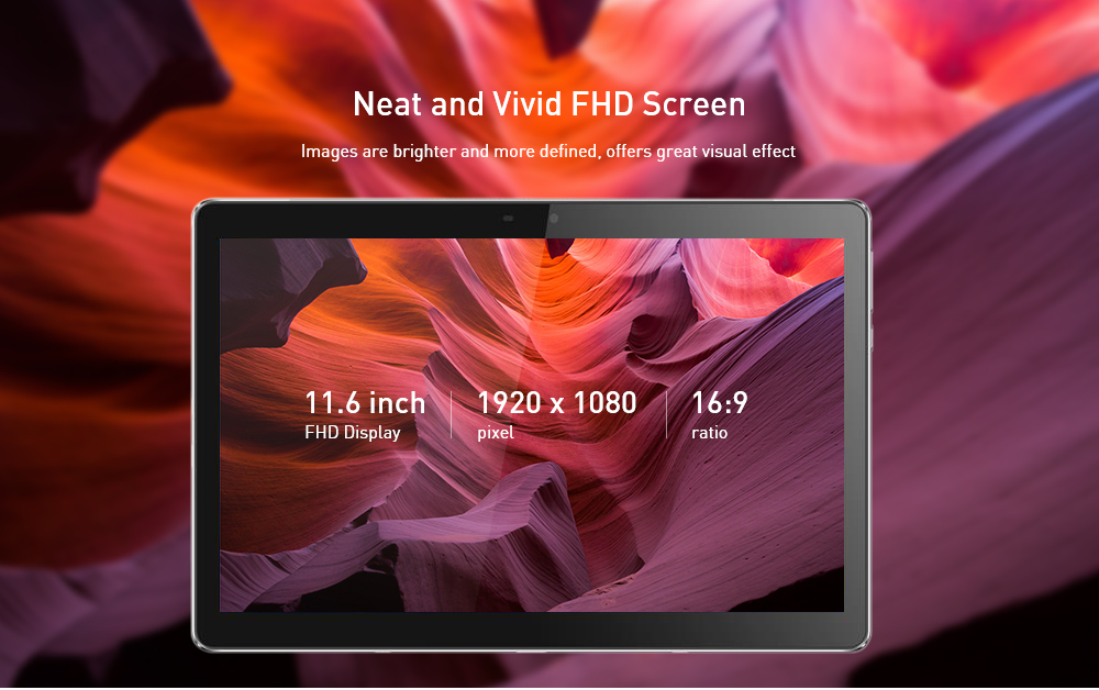 MT12 11,6 pollici WiFi Tablet PC Android 8.1- Argento