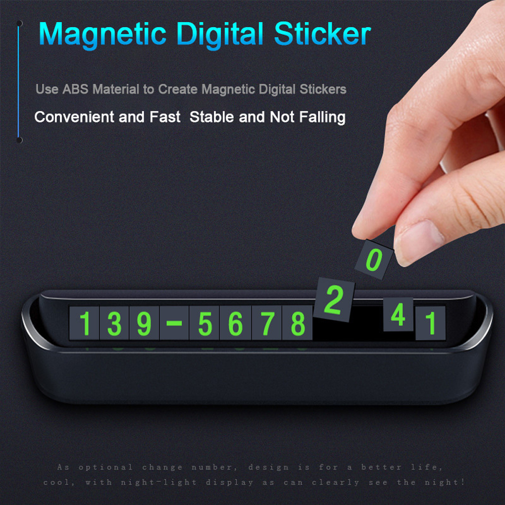 Magnetic Car Temporary Parking Card Phone Number Card Board Accessories Modeling- Milk White