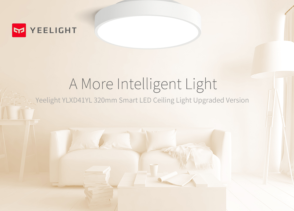 YEELIGHT YLXD41YL Adjustable Brightness / Timing Switch / Intelligent Linkage Upgrade Version Smart LED Ceiling Light Xiaomi Ecosystem Product- White