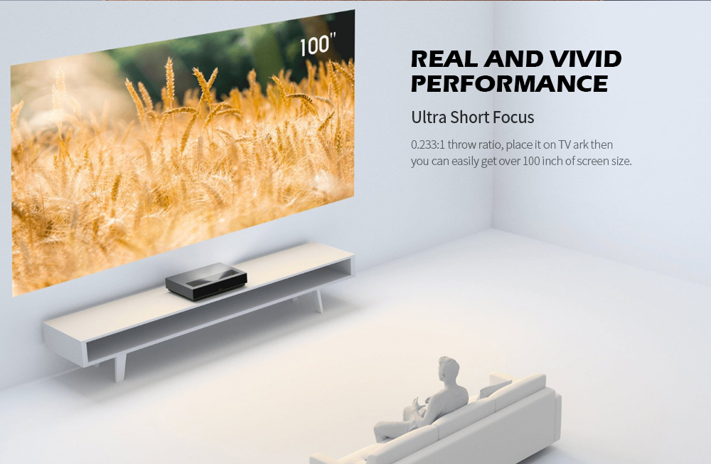 Fengmi L176FCN Laser TV 4K Cinema HD Projector Support Chinese / English ( Xiaomi Ecosystem Product ) - Black