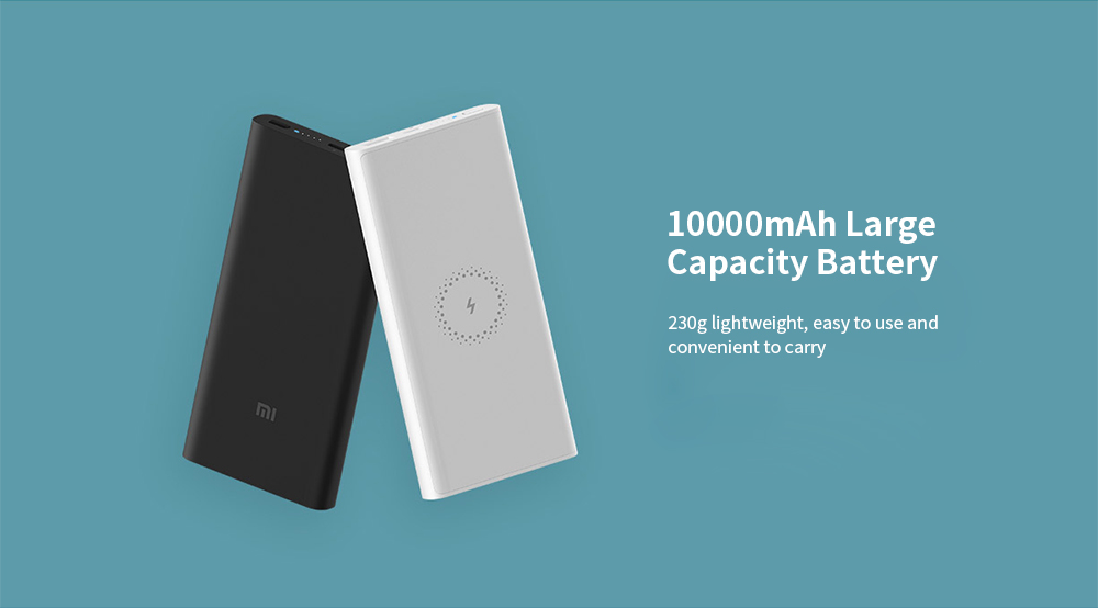 Xiaomi WPB15ZM Wireless Power Bank 10000mAh 10W Output Two-way Quick Charge Youth Version - White