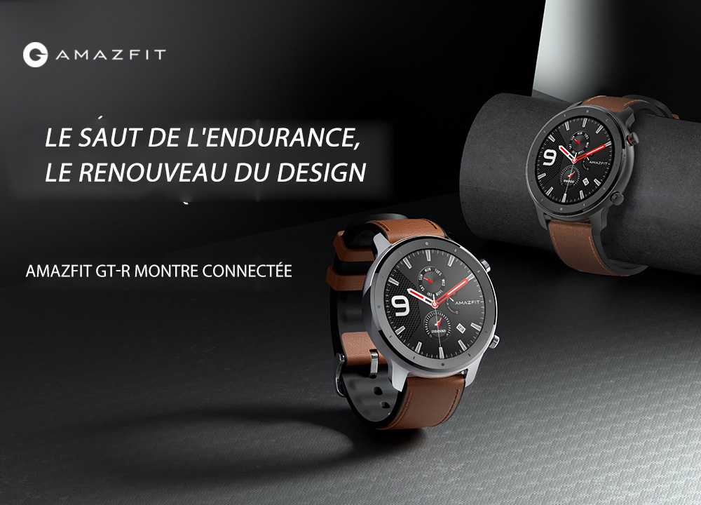 AMAZFIT GTR Smart Watch 47mm 50 Meters Waterproof 12 Sports Modes - Brown 47mm Aluminum Alloy Case