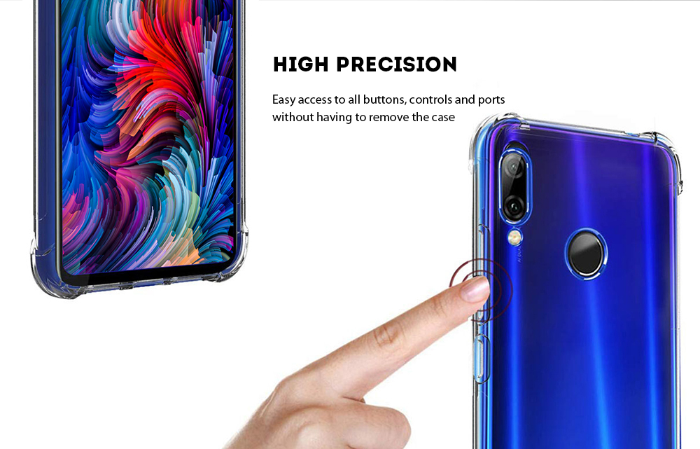 ASLING Phone Case Protective Cover for Xiaomi Redmi Note 7 Pro / Redmi Note 7- Transparent