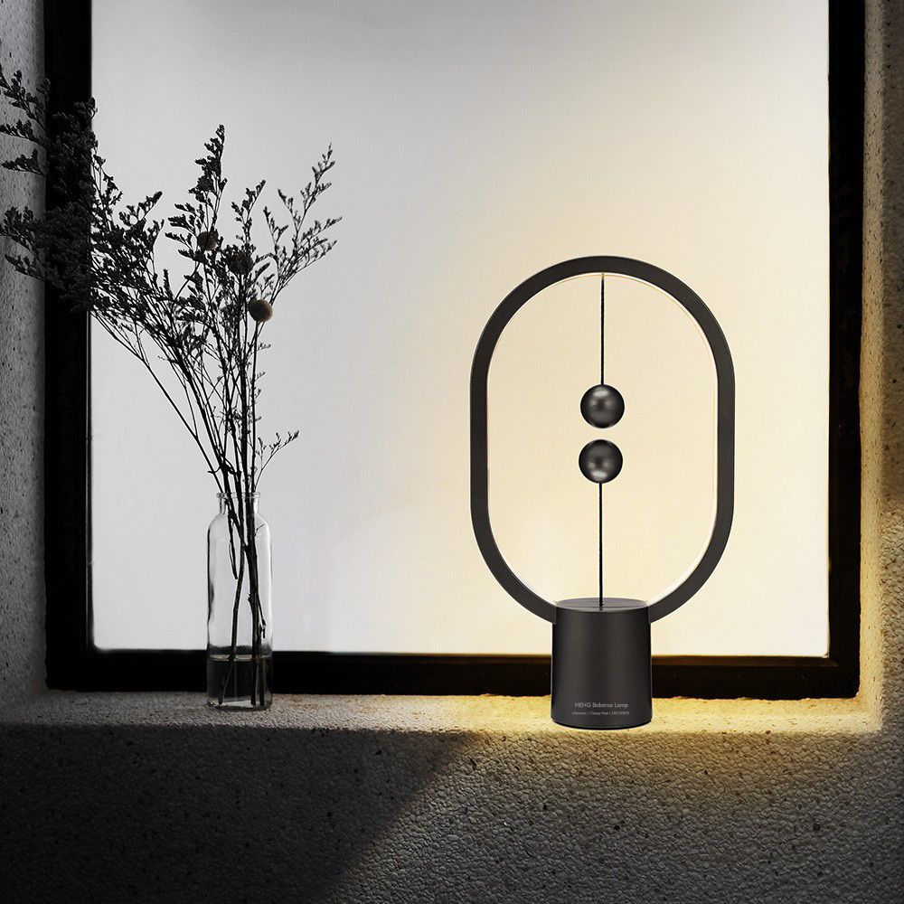 Utorch Intelligent Balance Magnetic Half-empty Switch LED Table Lamp- Dark Gray