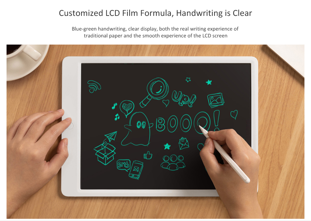 LCD Blackboard Writing Tablet Highly Sensitive Pressure Sensing Technology Changes Handwriting Thickness with No Blu-ray Screen / Ultra-light Magnetic Pen from Xiaomi youpin- White S
