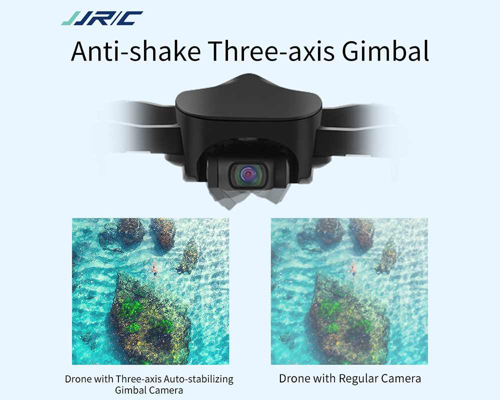 JJRC X12 5G WiFi 1080P Foldable Drone- Black 2 Batteries