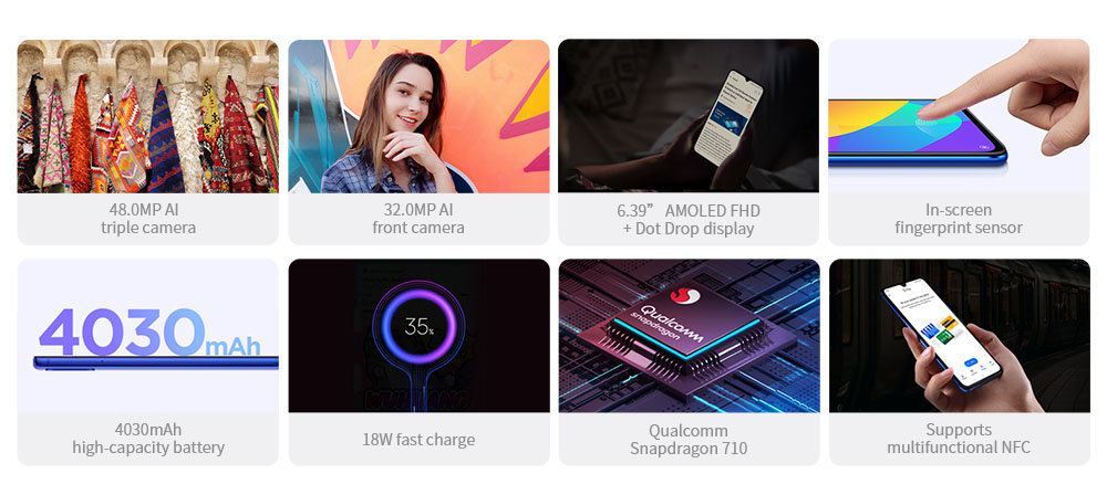 Xiaomi Mi 9 Lite 4G Phablet 6.39 inch MIUI 10 Qualcomm Snapdragon 710 Octa Core 2.2GHz 6GB RAM 64GB ROM 48.0MP + 8.0MP + 2.0MP Rear Camera 4030mAh Battery- White