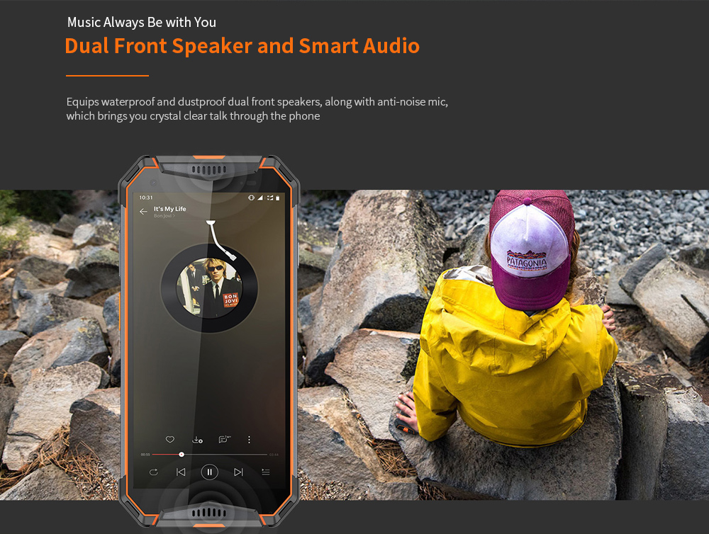 Ulefone Armor 3W 4G Phablet 6GB RAM 64GB ROM- Orange EU Version