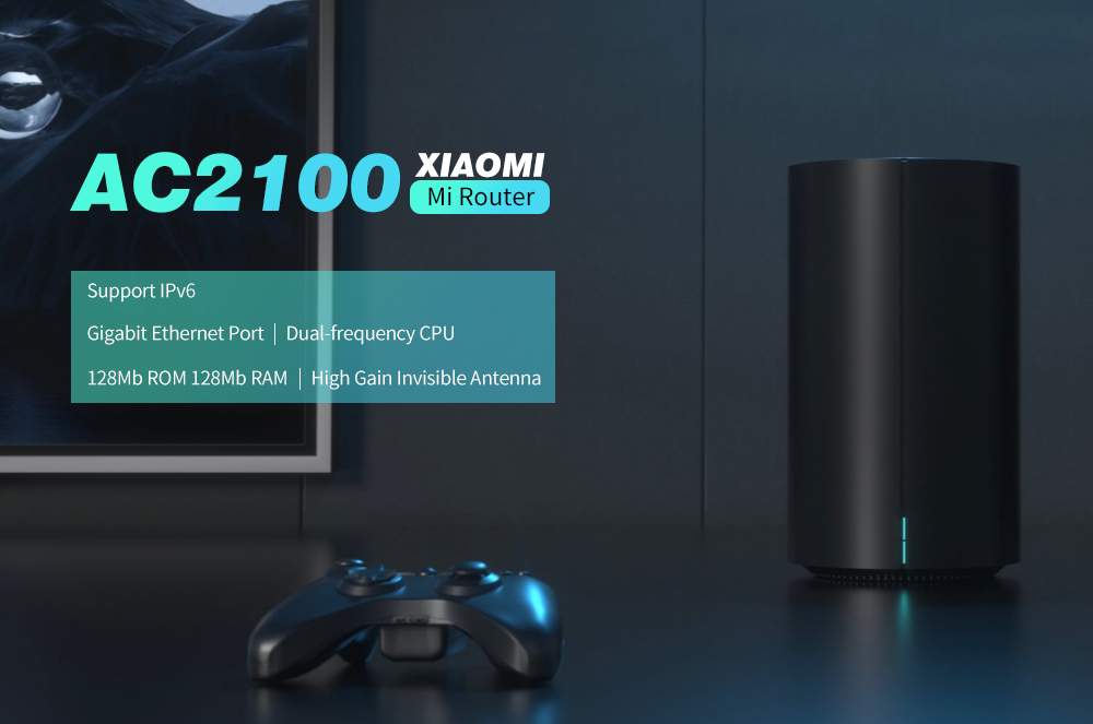 Xiaomi AC2100 Mi 라우터 2.4GHz 5GHz WiFi 128Mb ROM 128Mb-검정