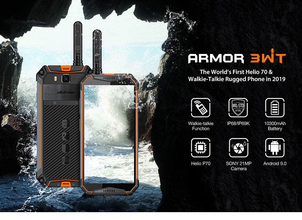 Ulefone Armor 3WT 4G Phablet 4GB RAM 64GB ROM- Orange EU Version
