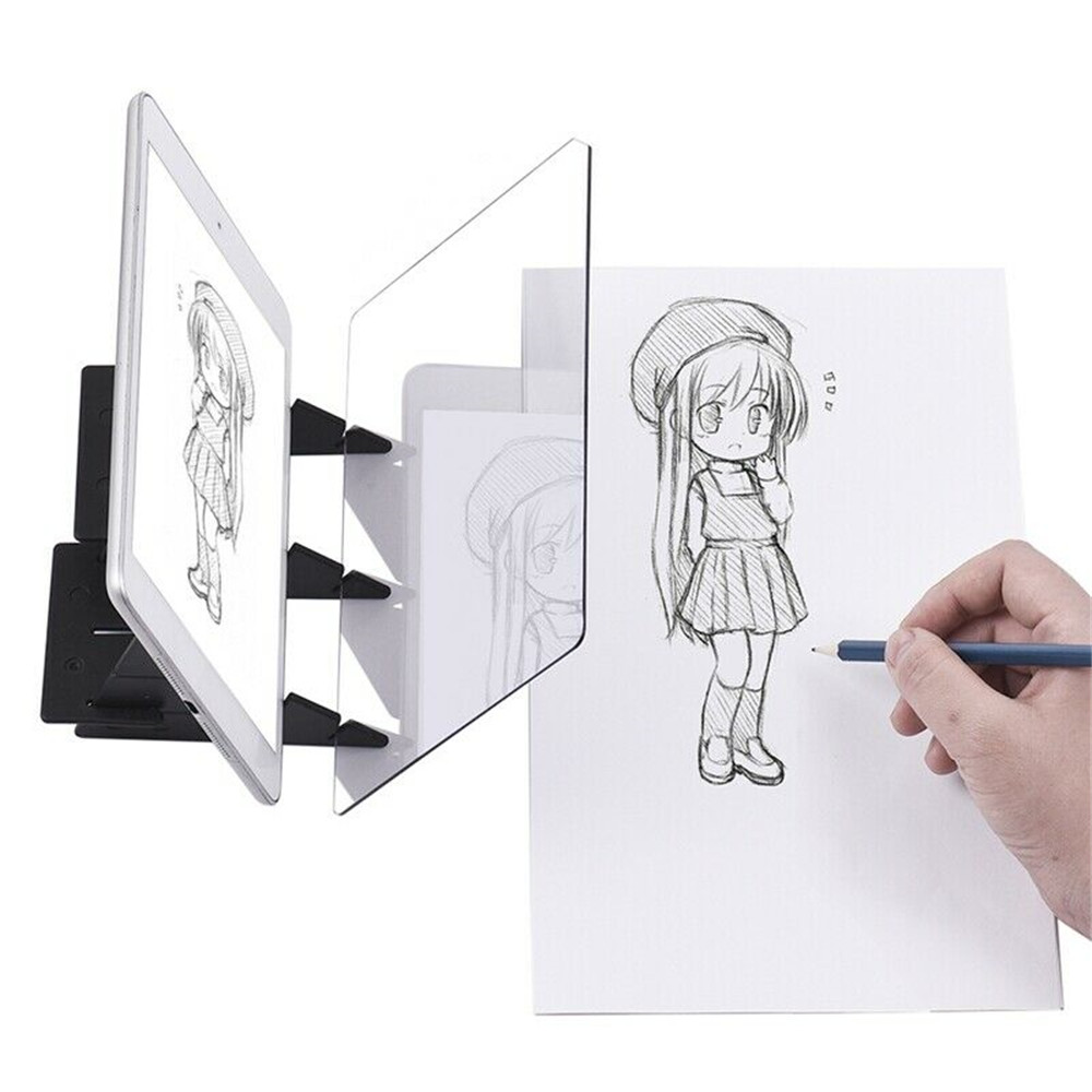 Led Projection Optical Drawing Board Sketch Specular Reflection Dimming- Black