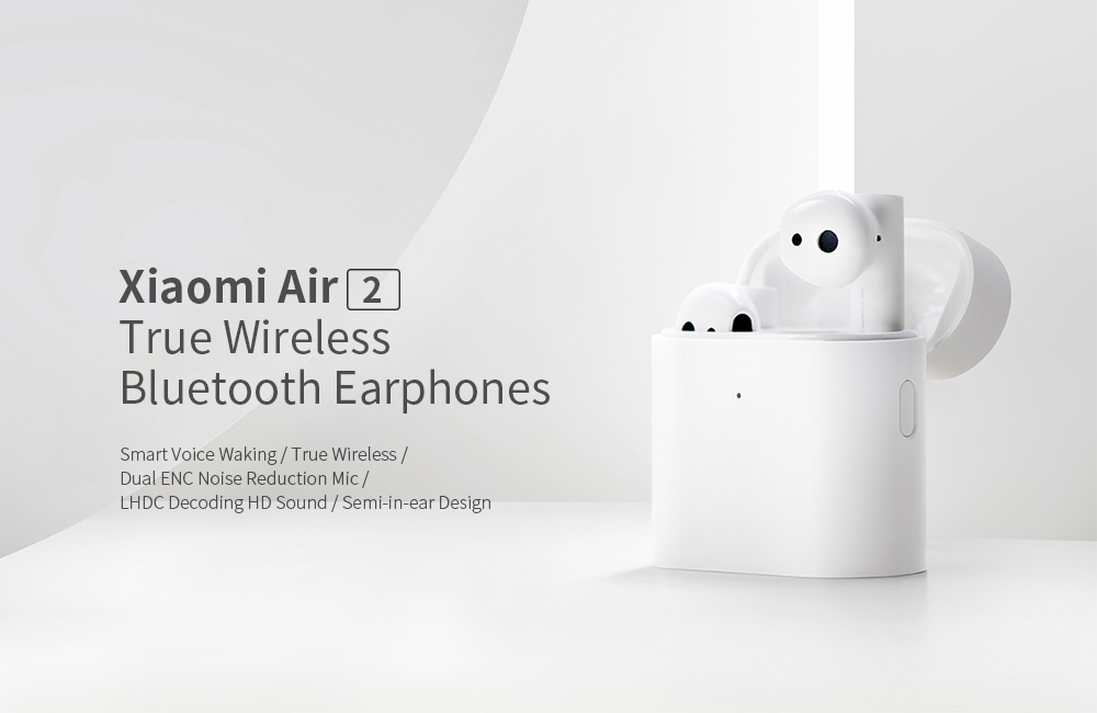 Xiaomi Mi Airdots Pro 2 (Air2 TWS) Bluetooth 5.0 Binaural Earphones True Wireless Earbuds- White
