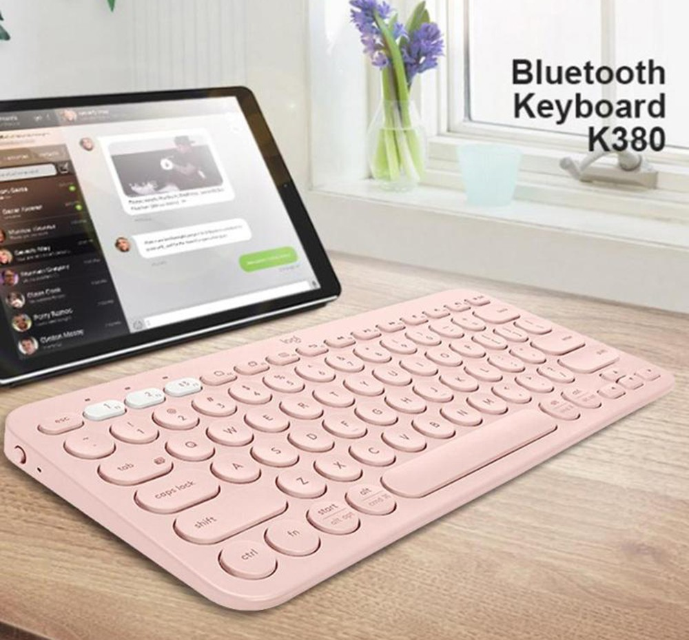 XIAONINGMENG K380 Keyboard Wireless Bluetooth Keyboard Office Keyboard Female Portable Ultra-Thin Keyboard Notebook Keyboard Computer Accessories Color : Black