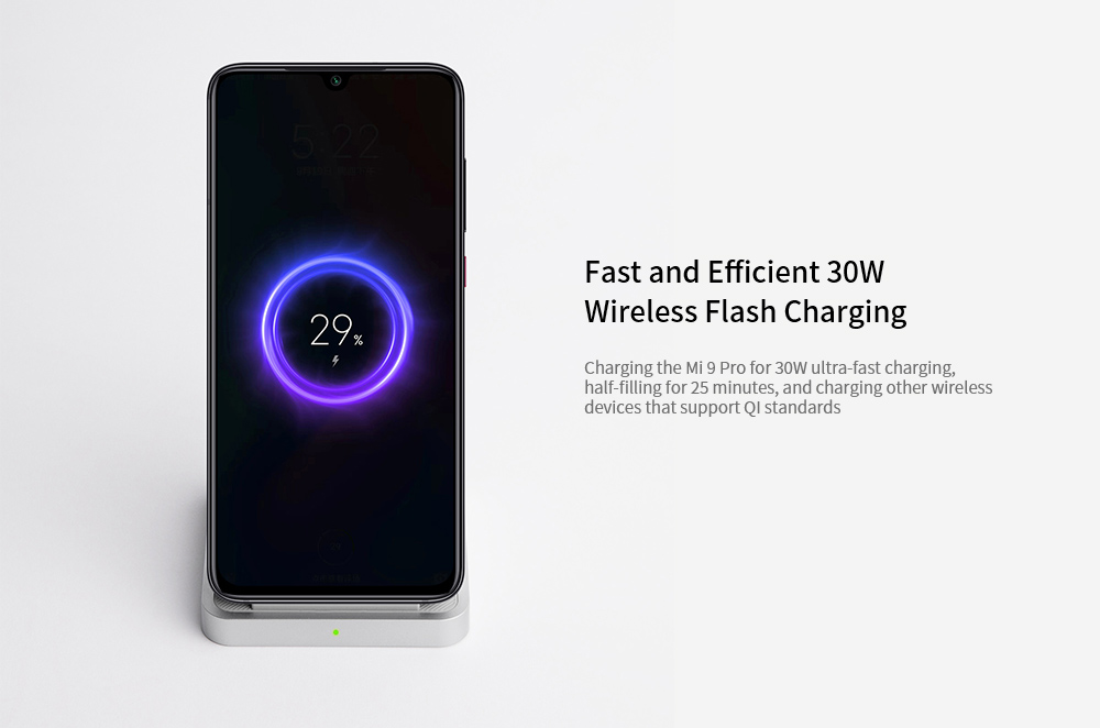 Xiaomi Vertical Air-cooled Wireless Charger 30W- White