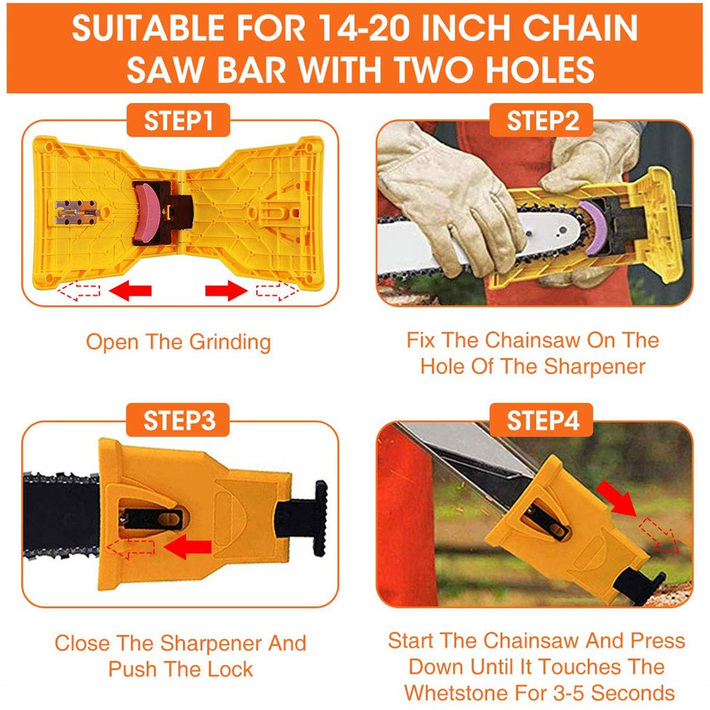 Chain Grinding Tool for Electric Saw- Yellow