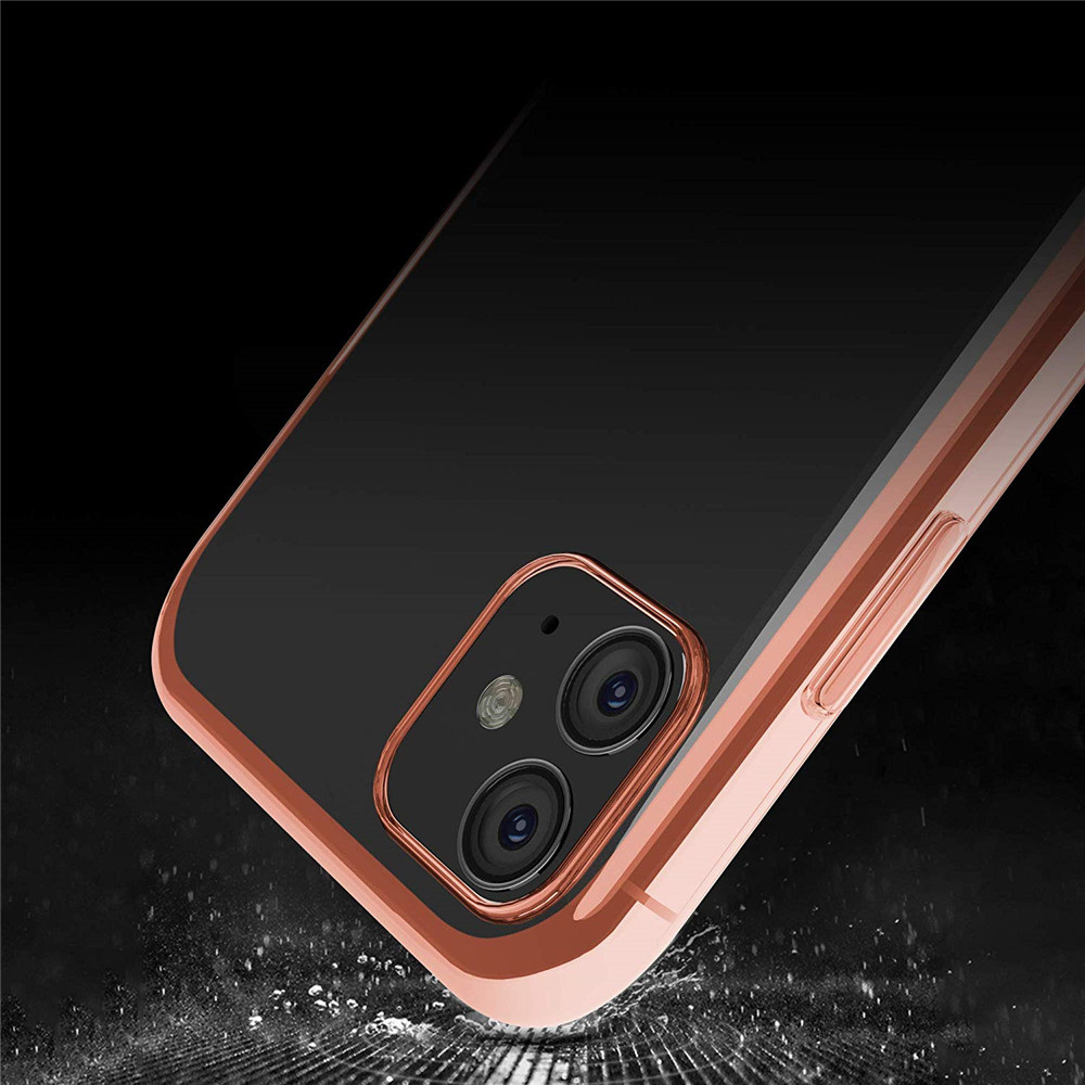 Colour Soft TPU Cover Case  + Tempered Glass Screen Protector for iPhone 11- Transparent