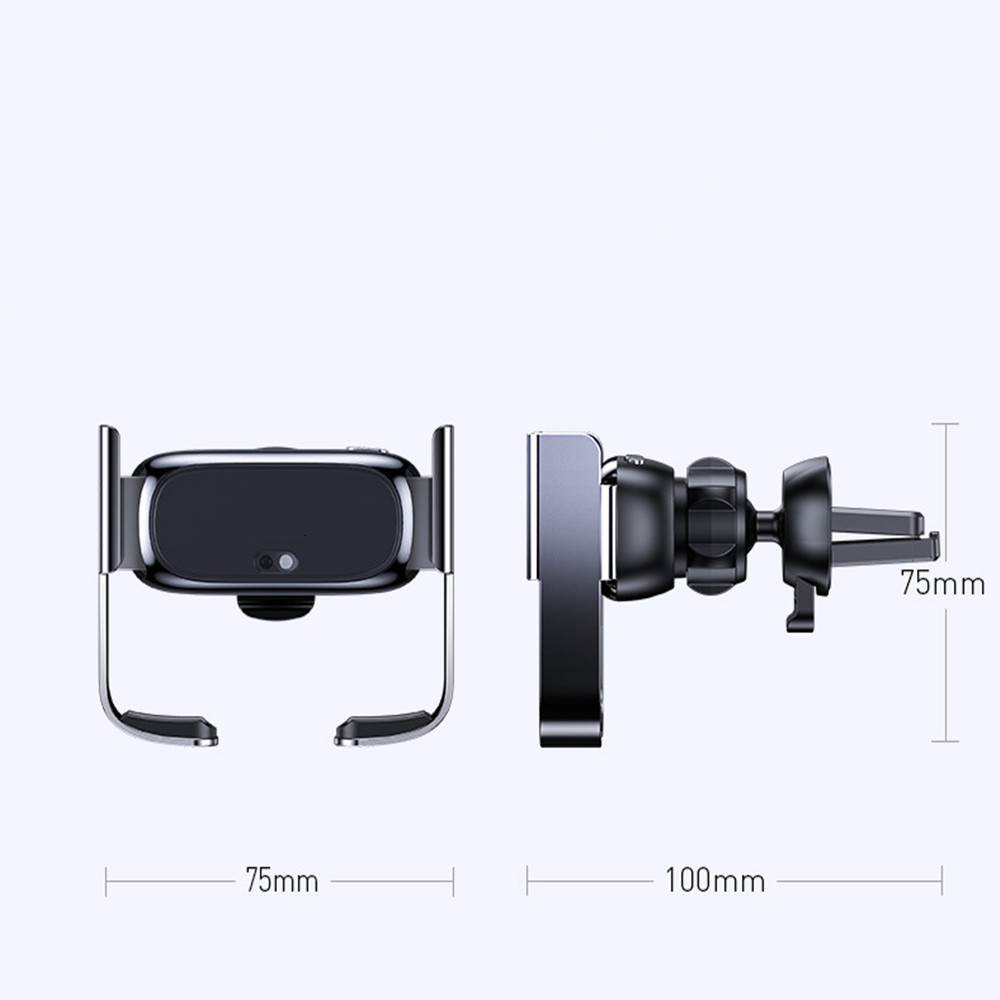Electric Car Phone Holder Vent Intelligent Touch Sensor Stand for Mobile Phone- Silver