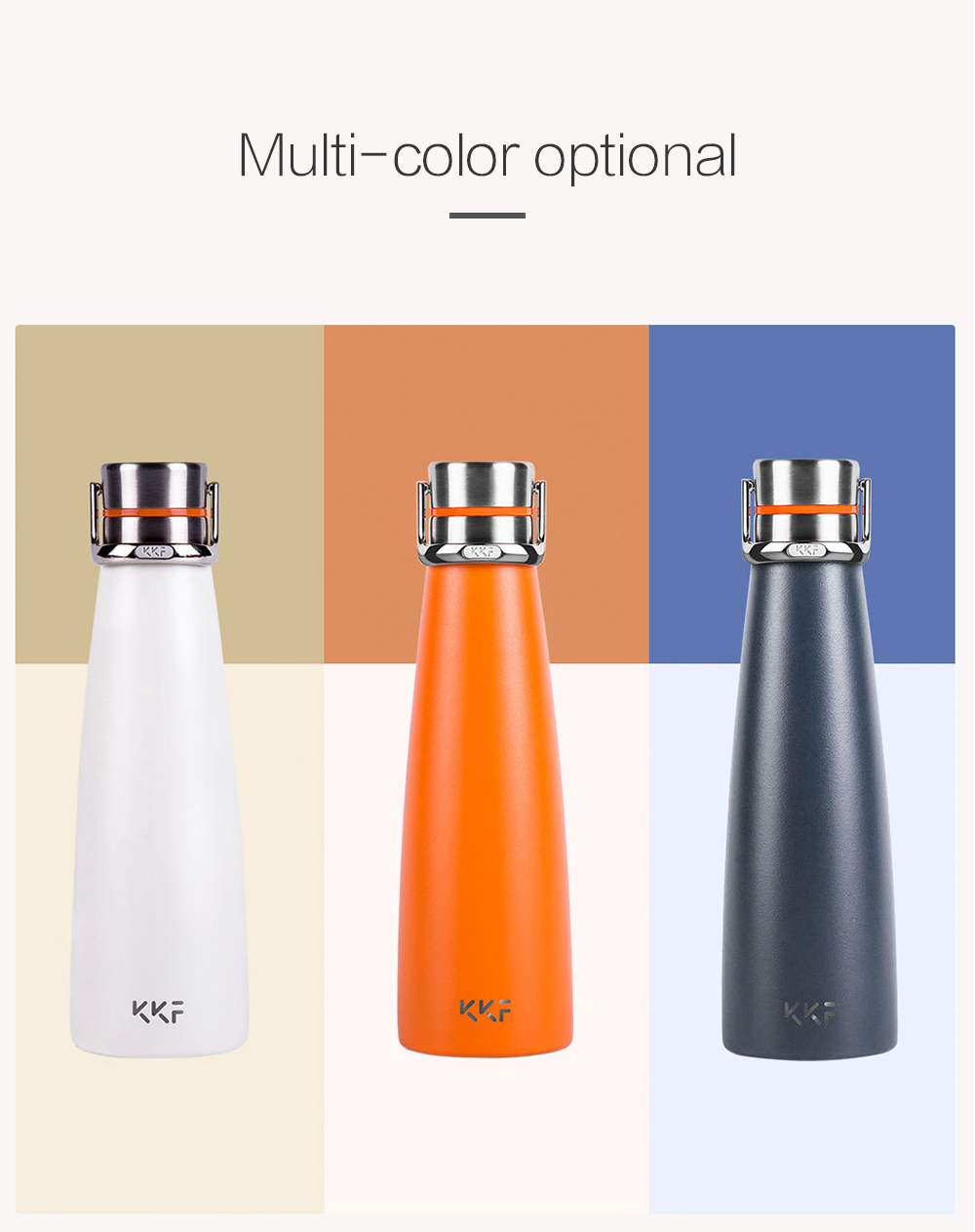 KKF Smart Vacuum Cup OLED Display from Xiaomi youpin- Beige Smart Version