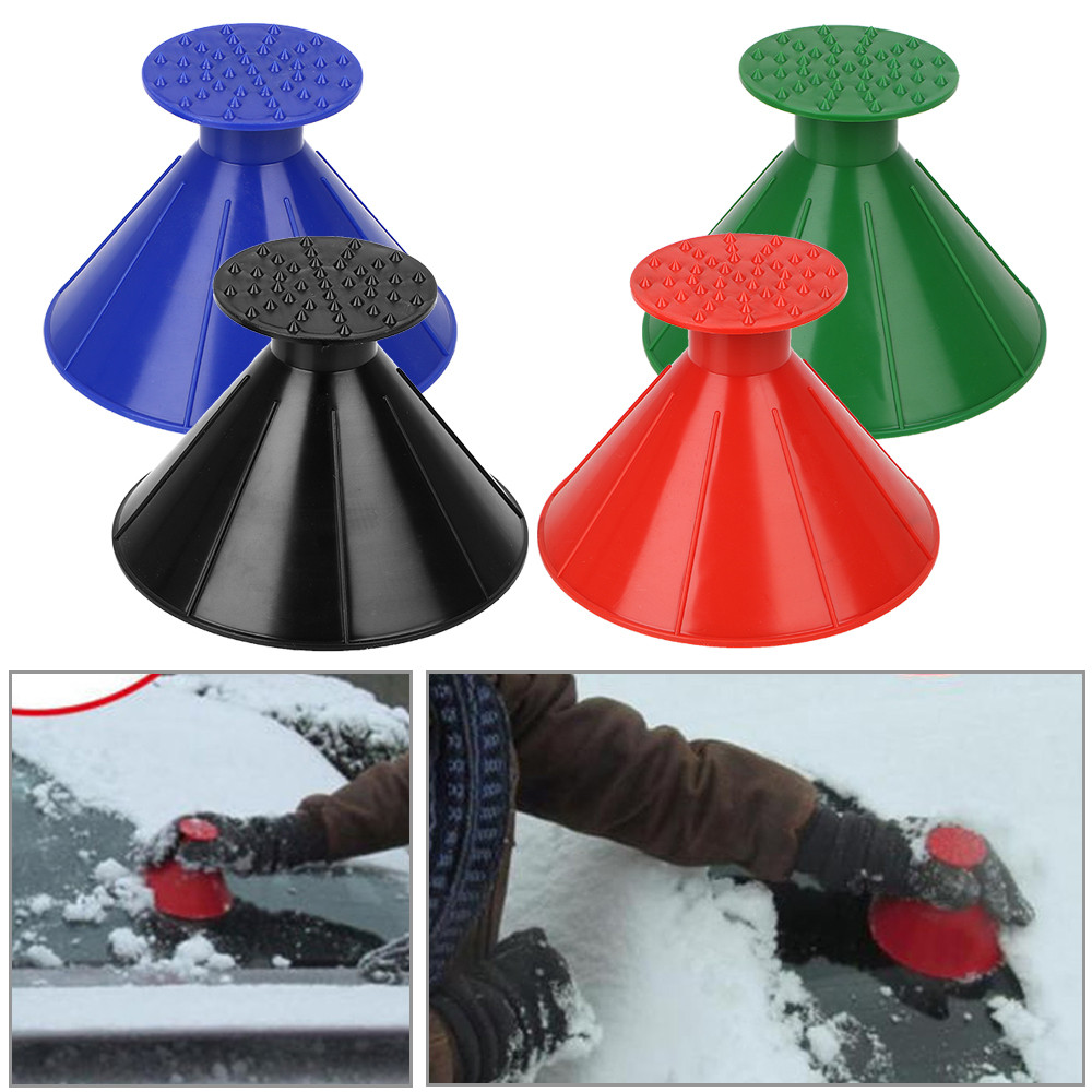 Funnel Snow Scraper Ice Scraper Car Windshield Snow Cover Ice Scrapers- Green