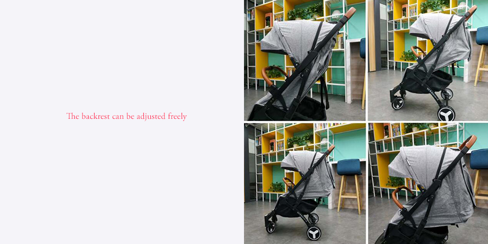 YOYAplus 4 Portable Lightweight Strollers Upgraded Version- Gray White support
