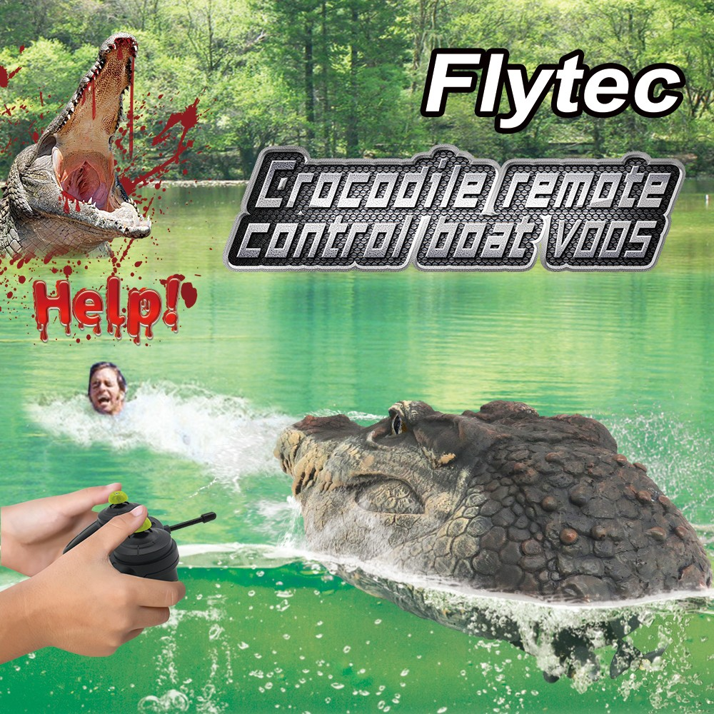 Flytec V005 2.4G Simulation Four-channel Remote Control Boat Water Floating Cayman- Army Brown