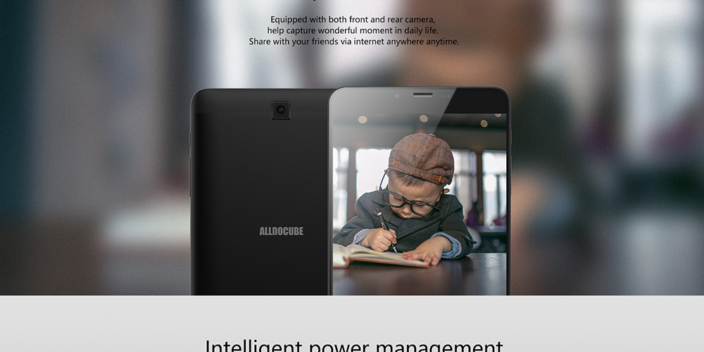ALLDOCUBE iPlay 7T 6.98 pouces 4G Phablet Android 9.0 AI Tablet - Noir