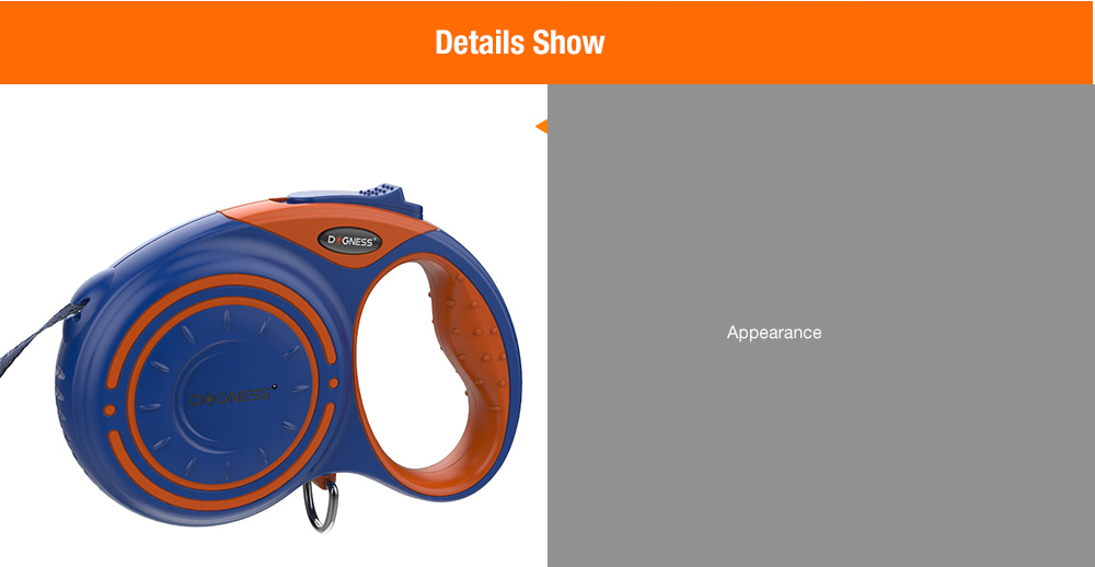 DOGNESS Multifunctional Dog Tow Rope Leash Device- Deep Blue S