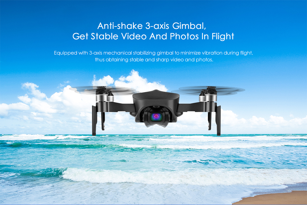 JJRC X12 5G WiFi 4K Foldable Drone- Black 4K 1 Battery