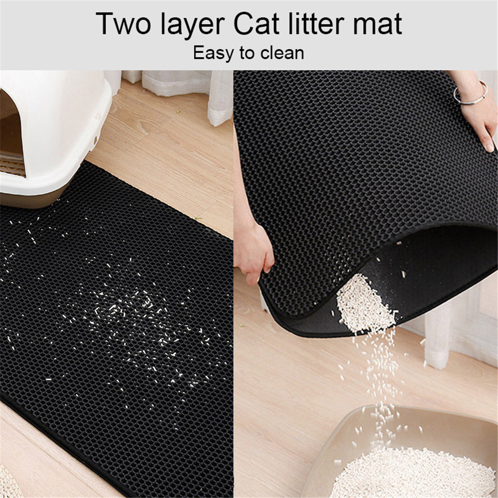 Multifunctional Foldable Cat Litter Pad- Black 40*50