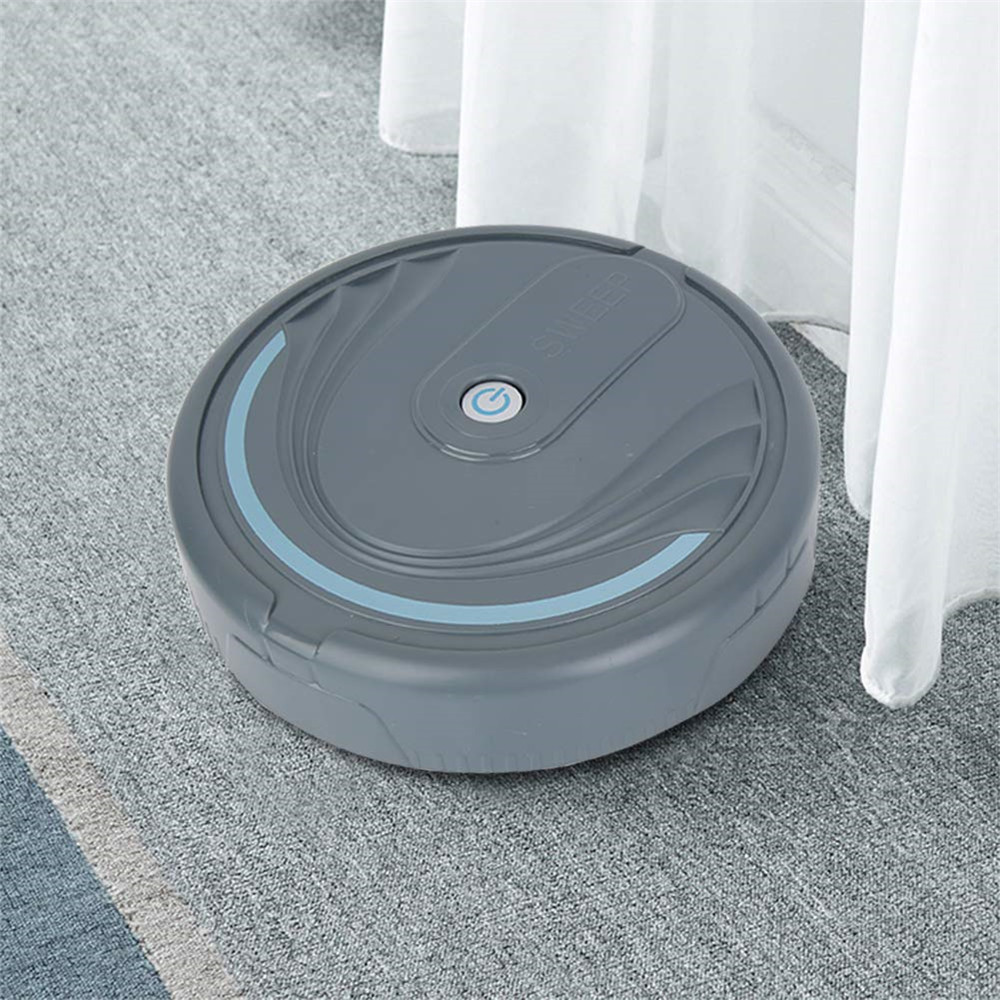 High Quality Smart Robot Vacuum Cleaner Auto Floor Cleaning Toy Sweeping Sweeper- White