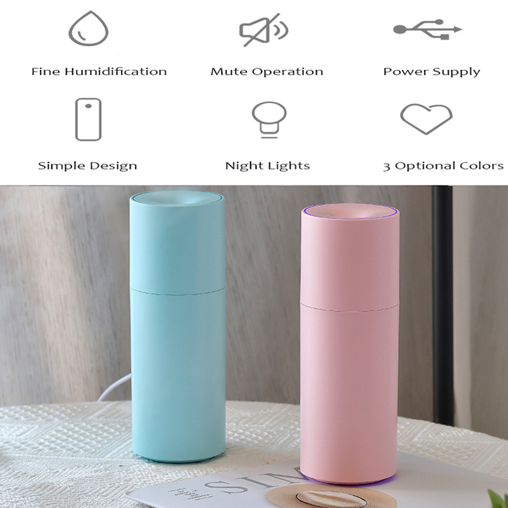 250ML Diffusore Umidificatore USB Mini spruzzatore portatile Colorful Night Light- Celeste Chiaro