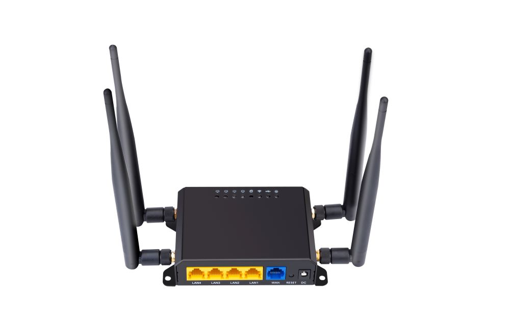 4G LTE WiFi Wireless Internet Router 300Mbps Cat 4 High Speed Industry CPE- Black