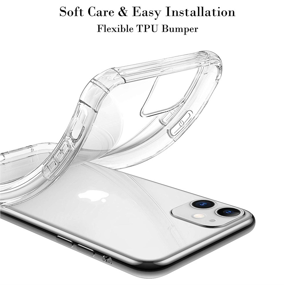 Transparent Soft Cover Airbag Anti-drop Mobile Phone Case for iPhone 11- Transparent