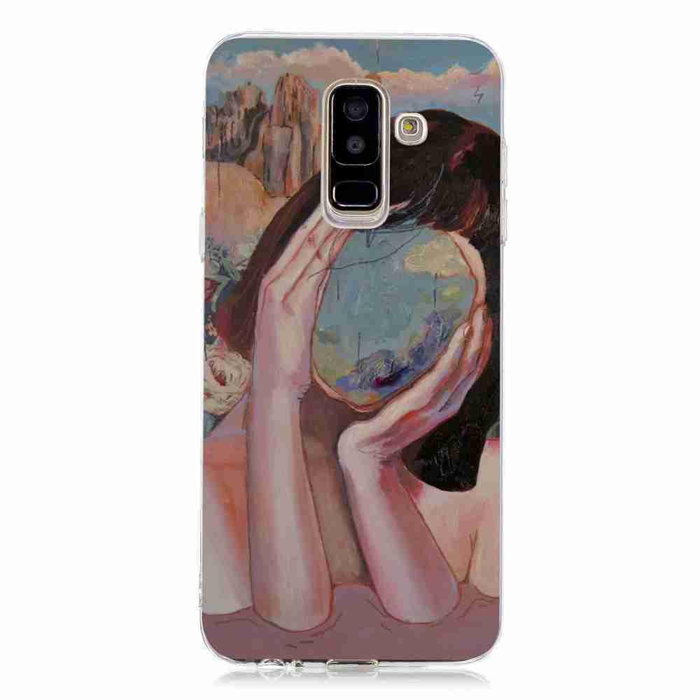 Multi-Pattern TPU Painted Phone Case for Samsung Galaxy J6 PLUS- Multi-G