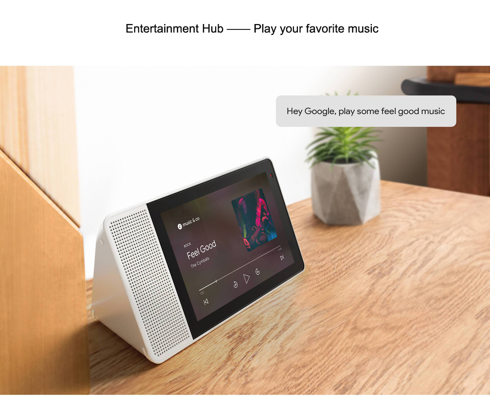 Lenovo ZA3N0003US 10.1 inch Smart Display Full HD IPS Touch Screen with Voice Control Google Assistant- Multi-A EU Plug
