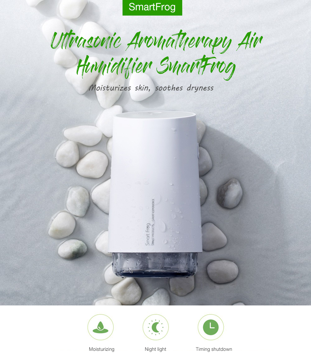 SmartFrog Ultrasonic Air Humidifier Aromatherapy- White