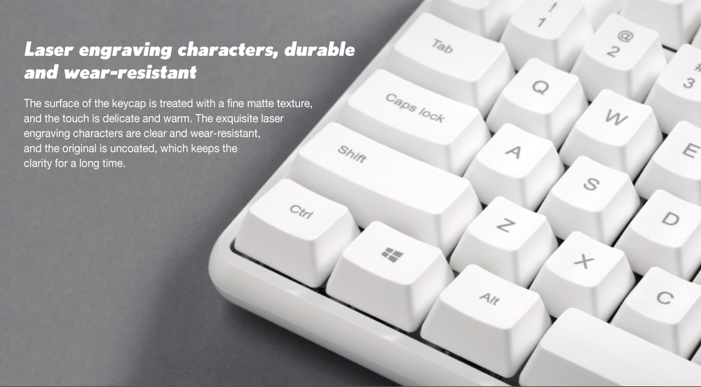 Yuemi MK03C TTC Hybrid Shaft 104 Keys Mechanical Keyboard ( Xiaomi Ecosystem Product )- White