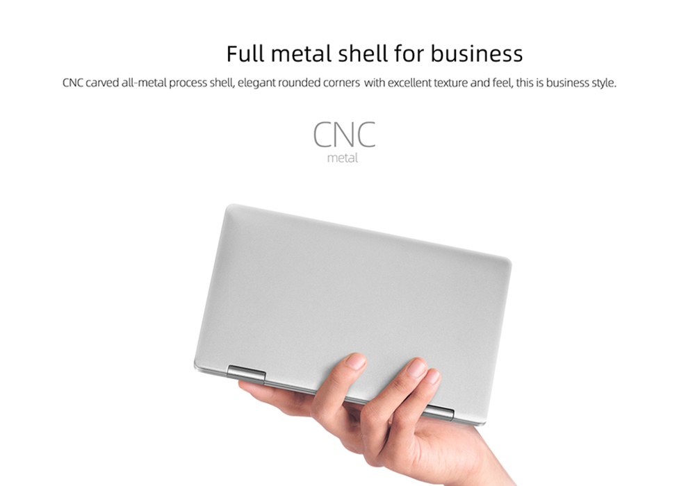 One-NetBook OneMix 1S 7 inch 2-in-1 Personal Computer Pocket Mini Laptop PC 360° Rotating Touch Screen- Silver PSE