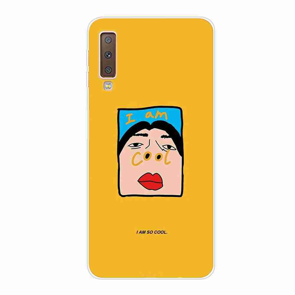 Multi-Pattern TPU Painted Phone Case for Samsung Galaxy  A750 / A7 2018- Multi-A