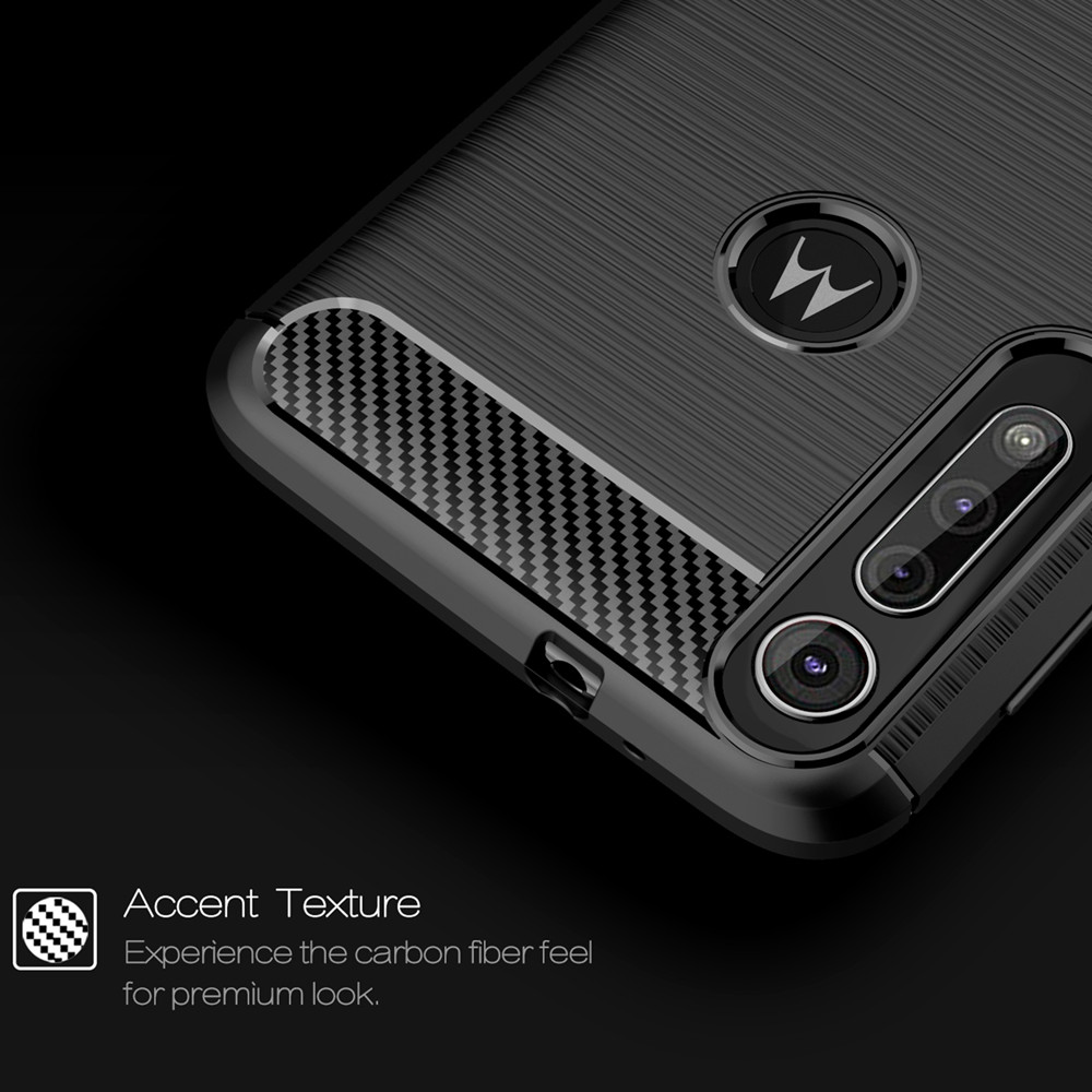 Shockproof Carbon Fiber Phone Case for MOTO G8 Play- Midnight Blue