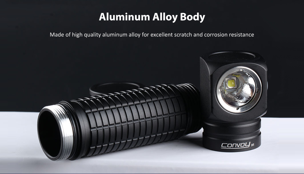 Convoy H1 2 in 1 Mini Multi-function Flashlight Headlight- Black 4200k