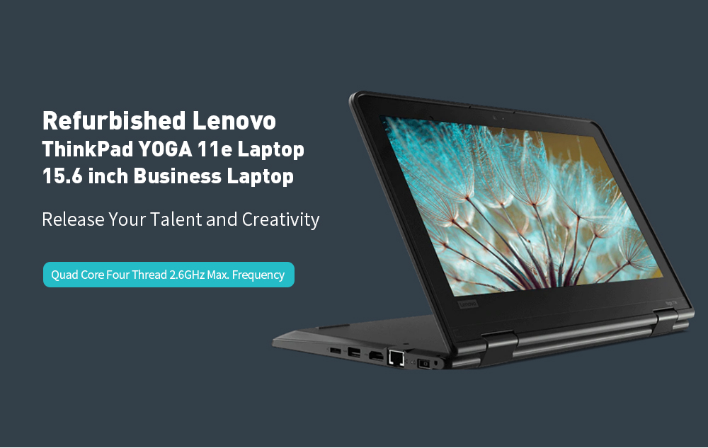 Refurbished Lenovo ThinkPad YOGA 11e 5th 11.6 inch Laptop 8GB DDR4 RAM 128GB SSD ROM Notebook Global Version- Black
