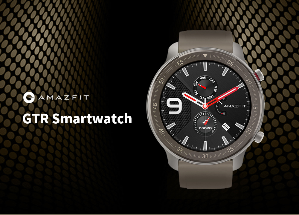 AMAZFIT GTR 47mm Smart Watch (Xiaomi Ecosystem Product)- Light Khaki