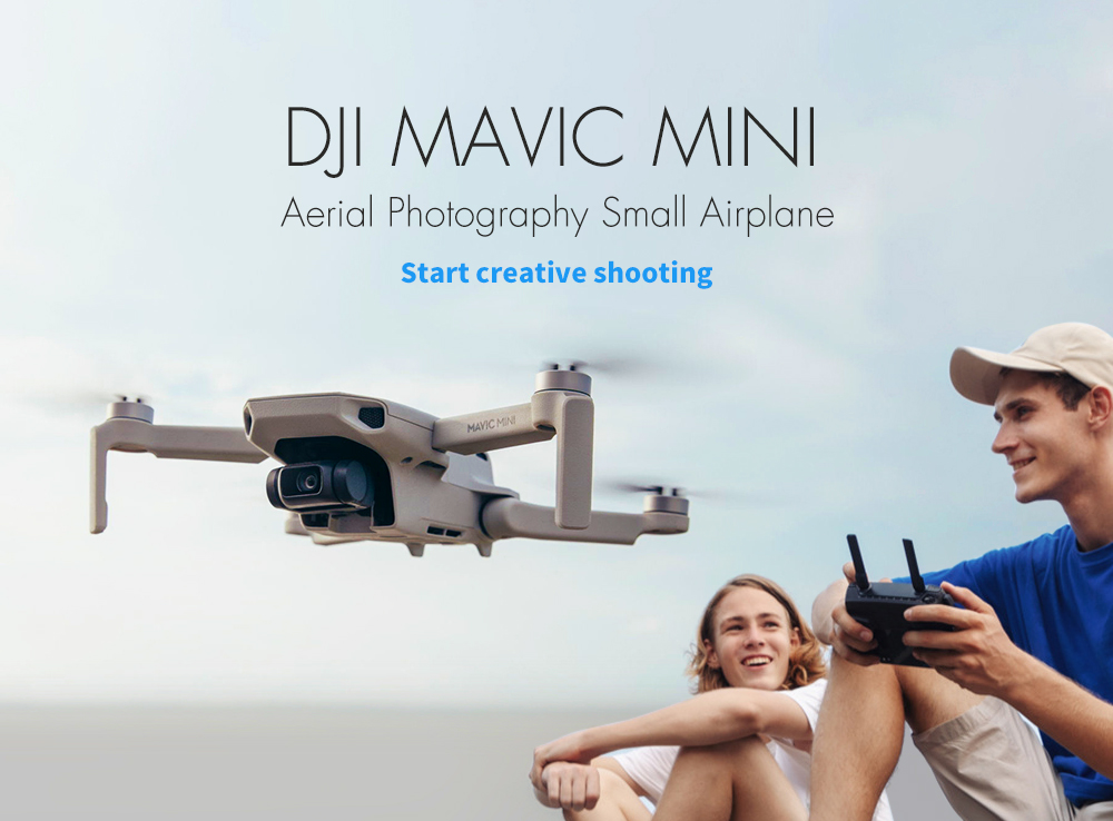 DJI Mavic Mini Aerial Photography Small Airplane- White