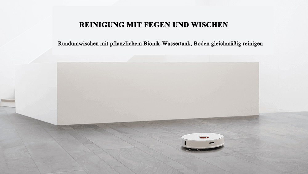 Roborock S50 smart robot vacuum cleaner from Xiaomi youpin- White Roborock S50 Second Generation International Version