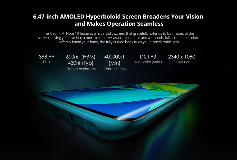 Xiaomi Mi Note 10 The World's First 108MP Xiaomi Phone Will Be Exclusively launched at Gearbest on November 6, 2019- Green