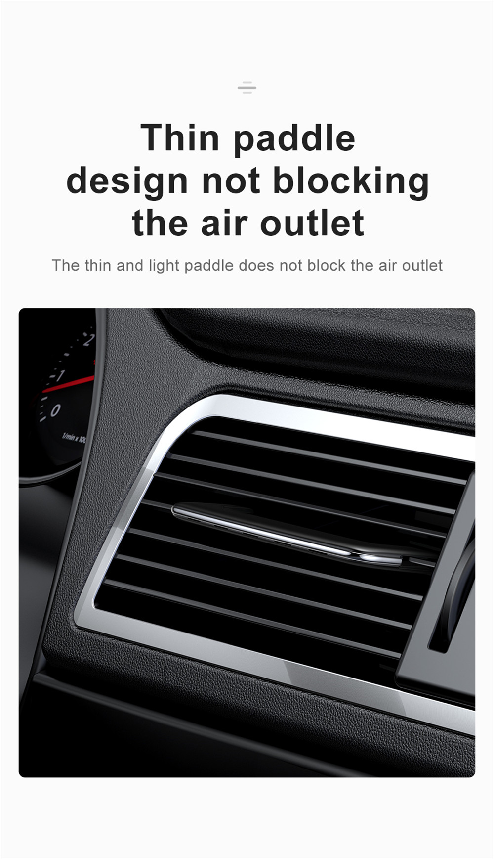 Dial The Slice of Automobile Air-Conditioning Outlet Car Aromatherapy- Silver